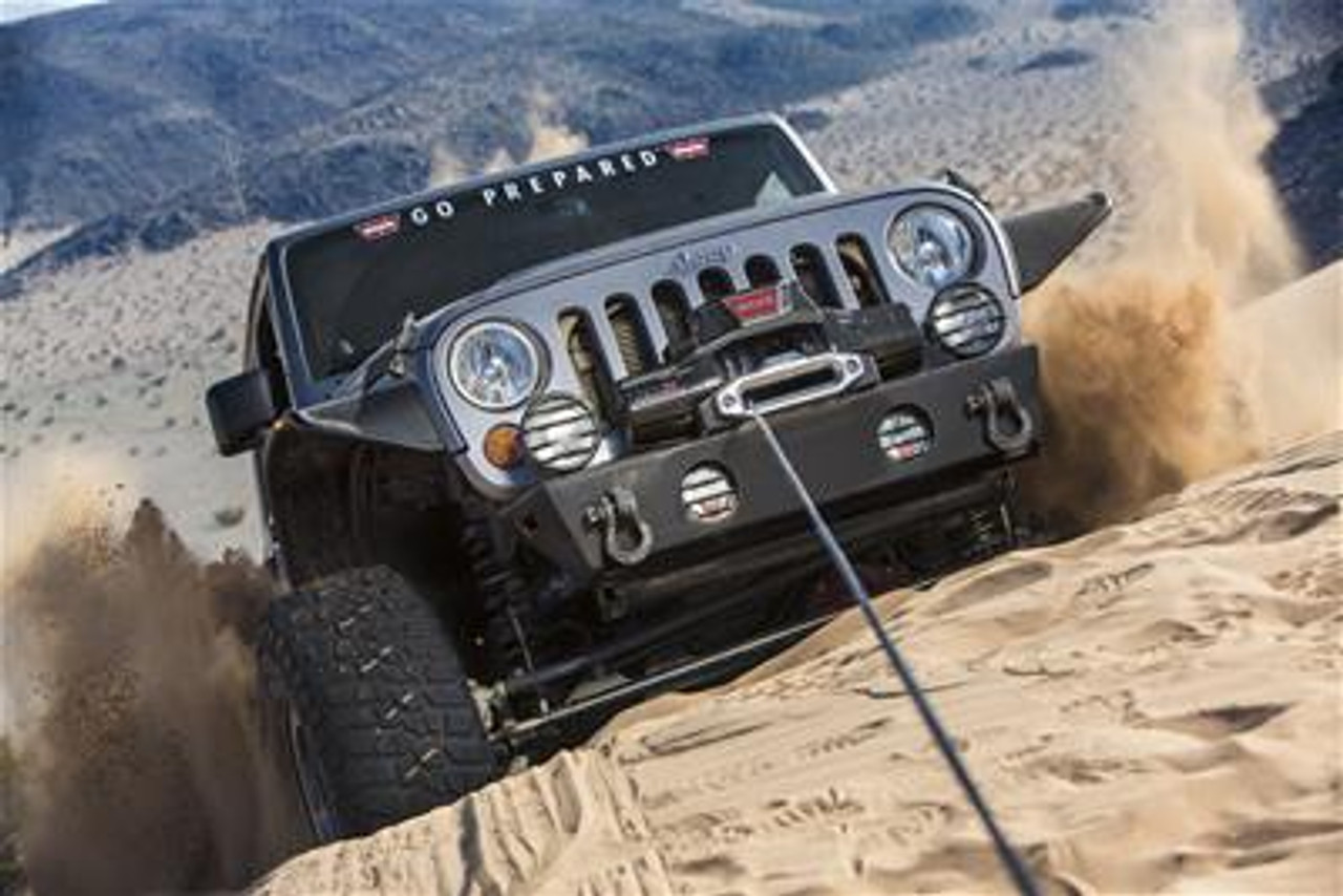 WARN ZEON 10 Platinum Winch Mounted and In Use