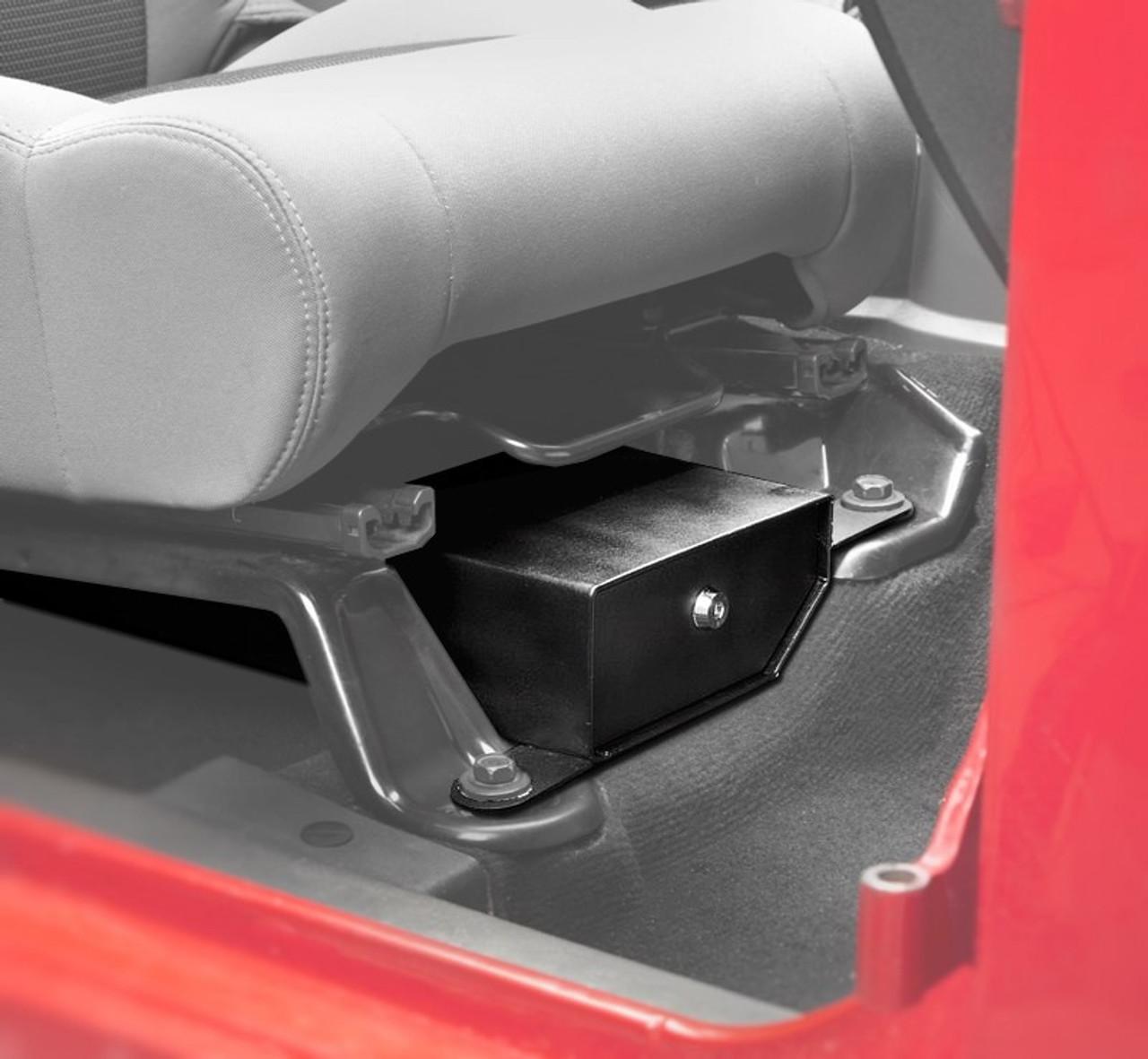 Bestop Locking Under Seat Storage Box in Textured Black for JK