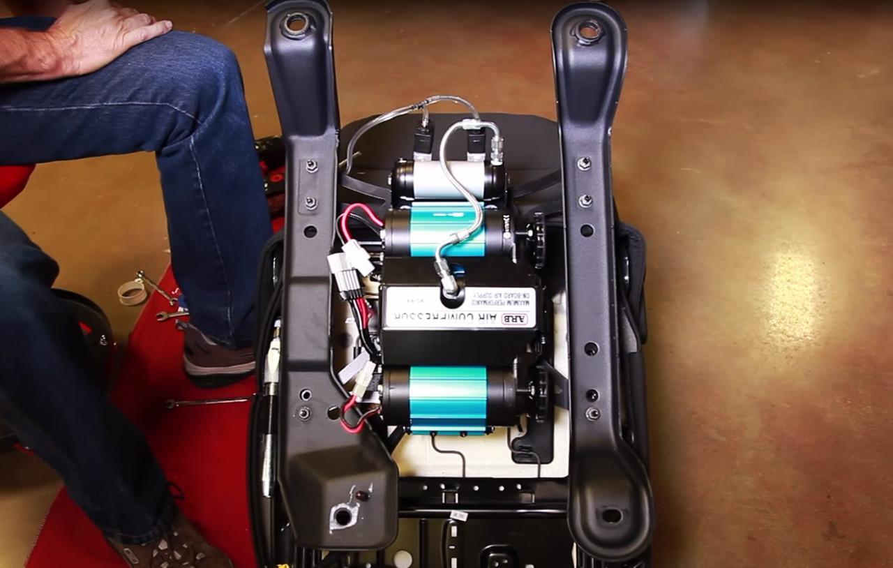Teraflex ARB Compressor Under Seat Mounting Kit Installed with Compressor