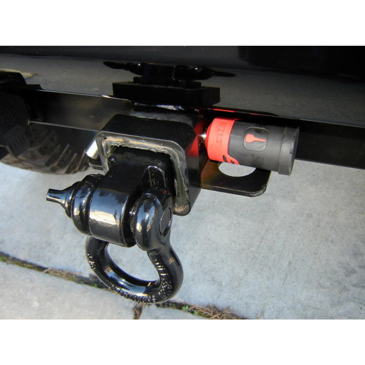 BoltLock Mounted on Receiver Hitch