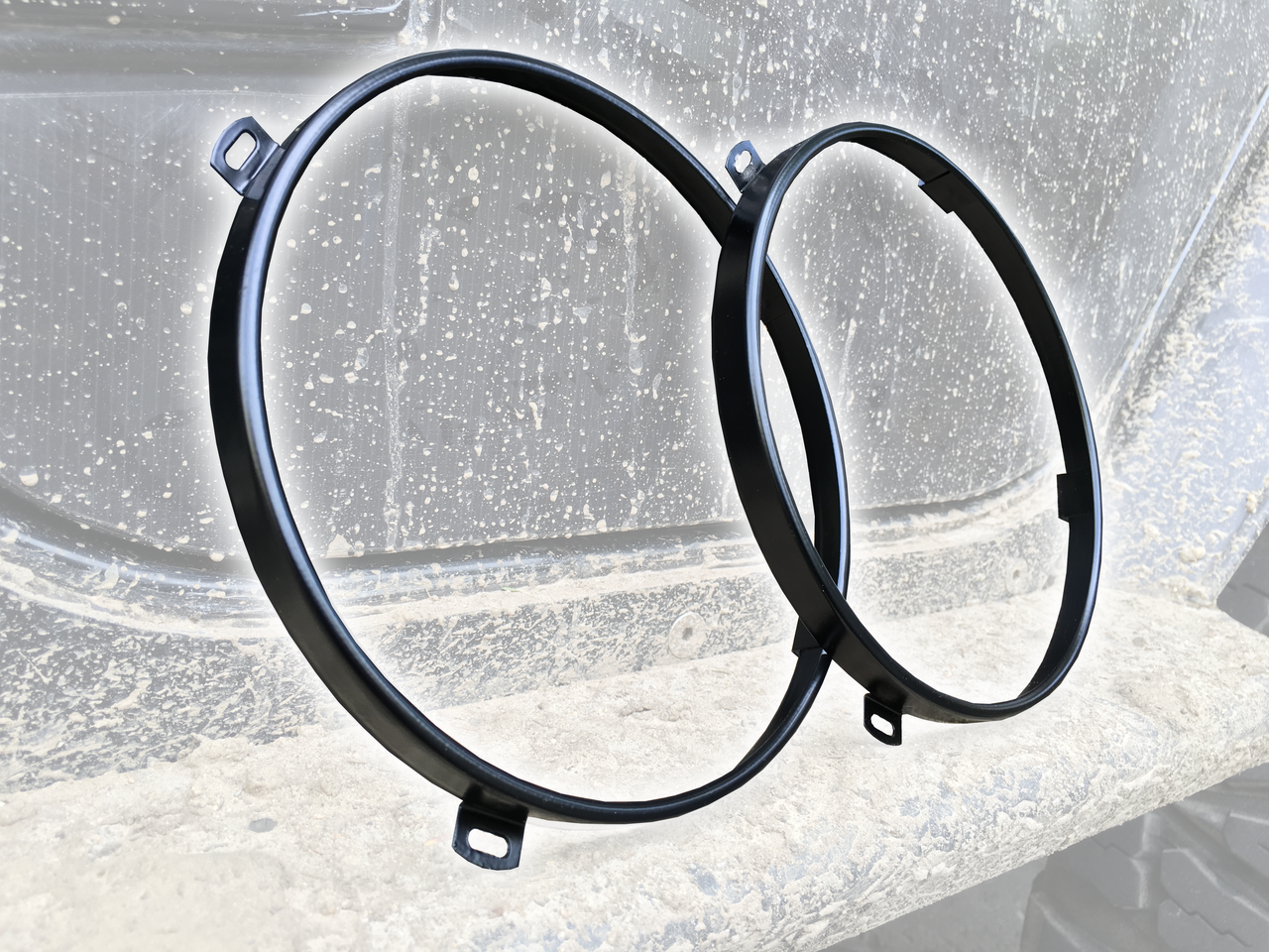 Offroad Elements Black Headlamp Bezel Pair for JK