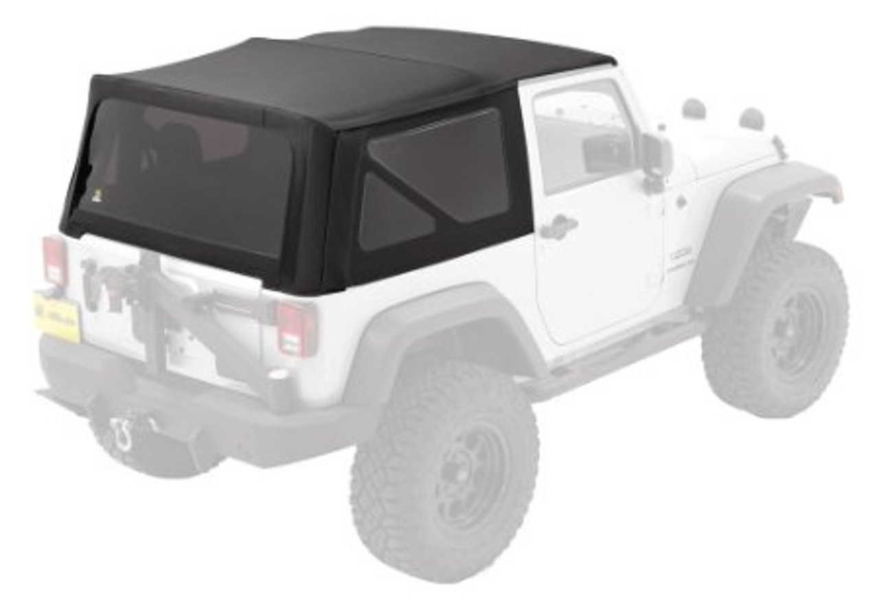 Bestop 79846 Black Twill Replace-A-Top with Tinted Windows for Jeep Wrangler JK 2 Door 2010-2016