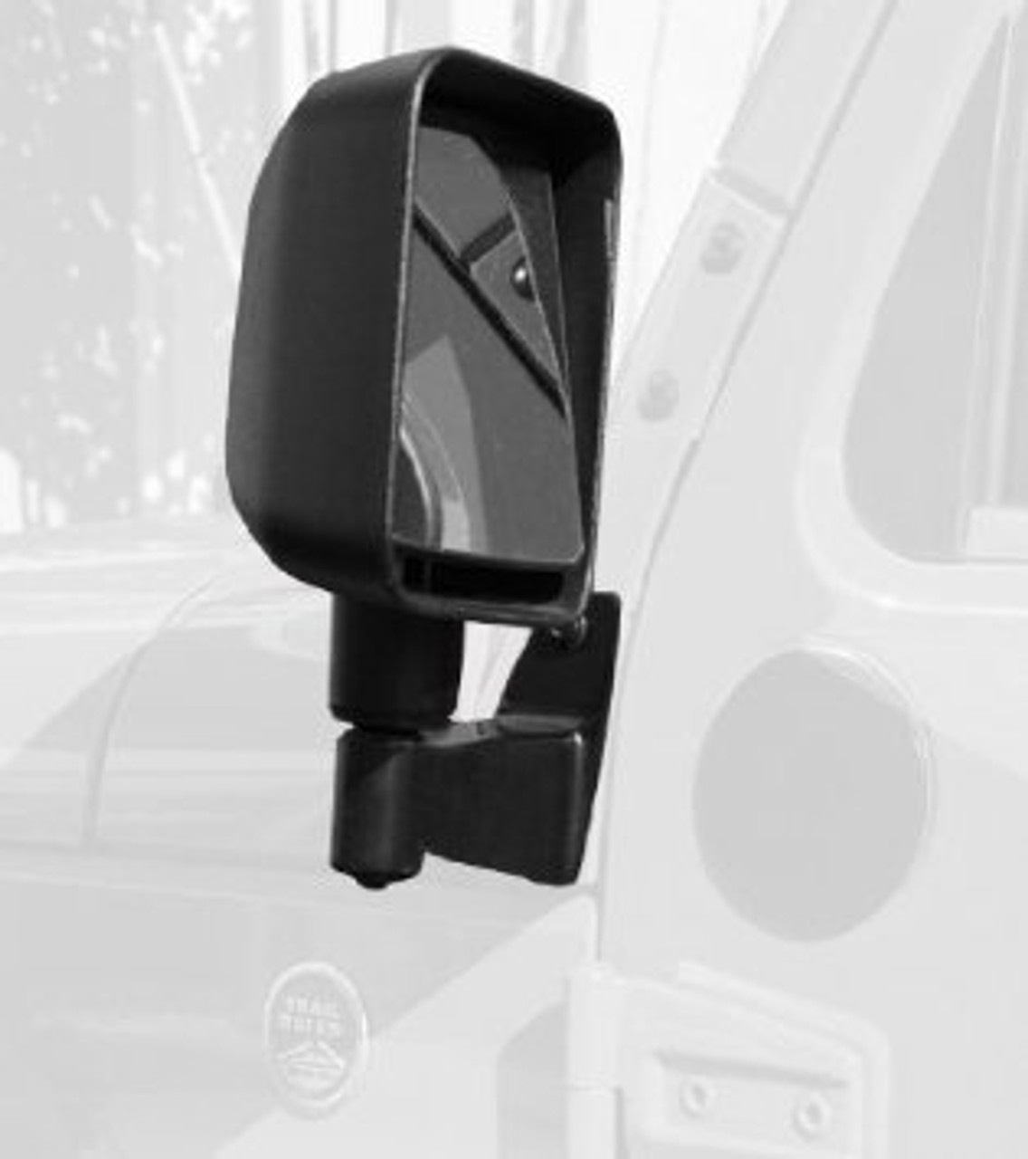 Rugged Ridge 11025.04 Mirror Relocation Bracket Kit in Black for Jeep Wrangler JK 2007-2016
