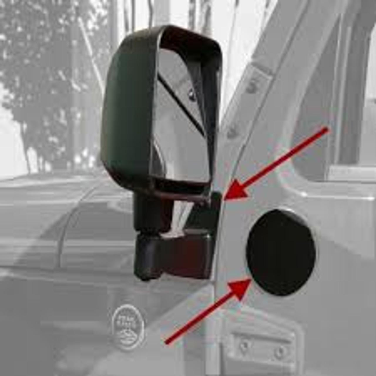 Rugged Ridge Mirror Relocation Bracket Kit in Black for Jeep JK
