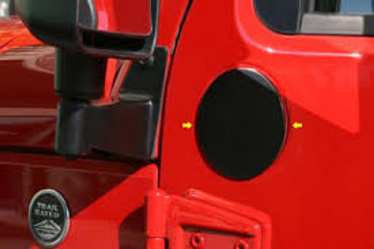 Rugged Ridge Mirror Relocation Bracket Kit Mounted on Jeep Wrangler JK
