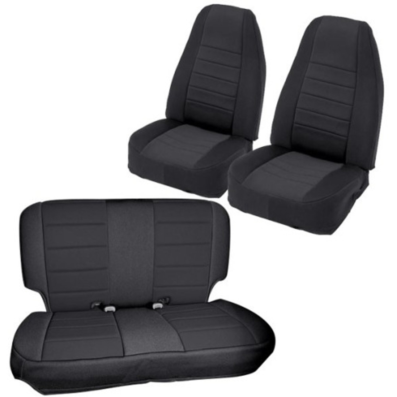 Smittybilt 471801 Front Neoprene Seat Covers with FREE Rear Cover for Jeep Wrangler JK 4 Door 2007-2016