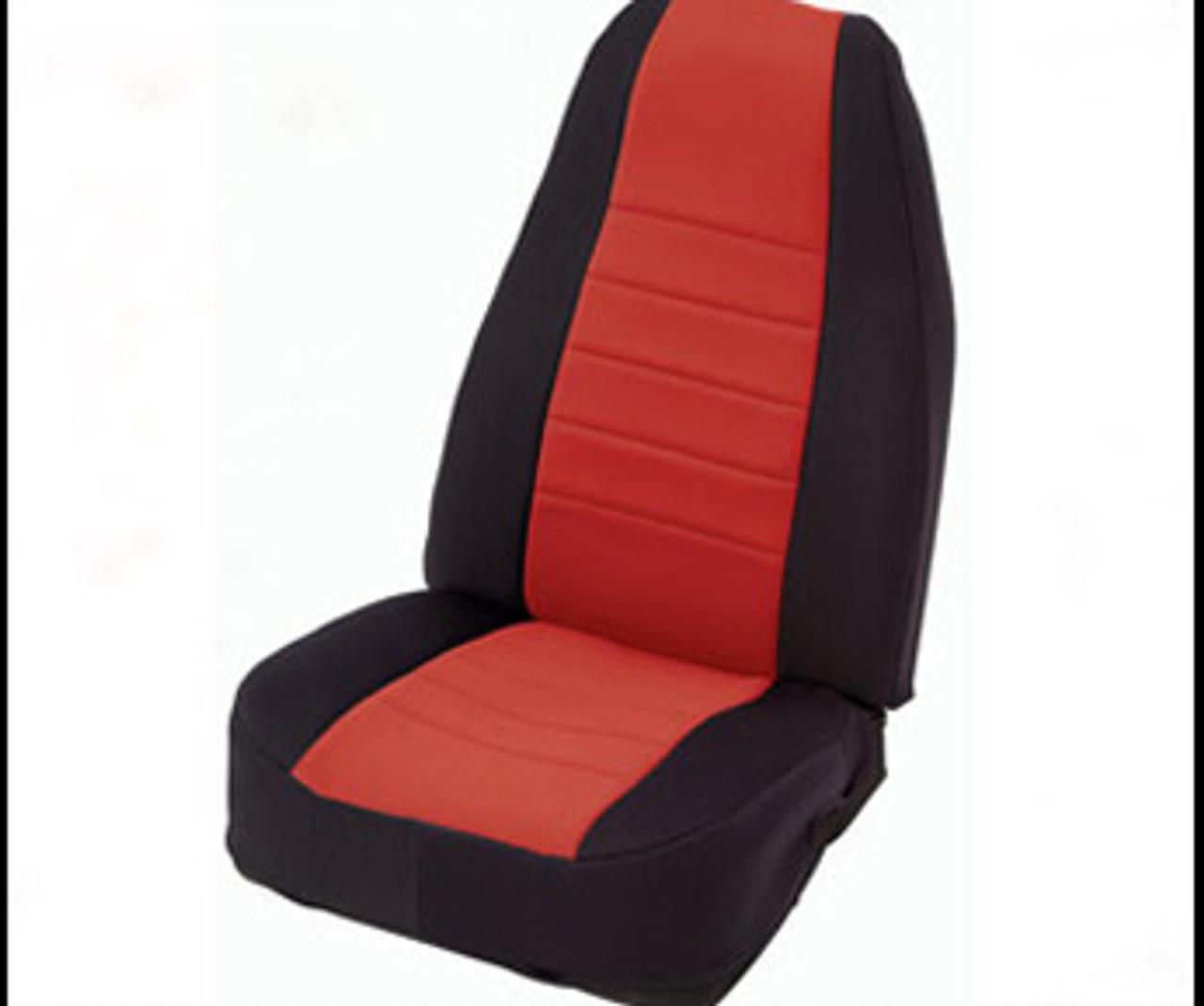 Smittybilt Neoprene Seat Cover in Black/Red