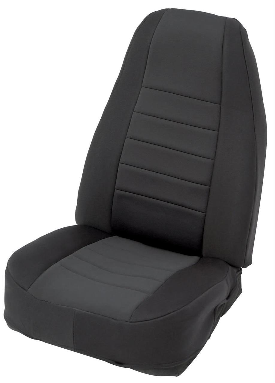 Smittybilt Neoprene Seat Cover in Black/Black