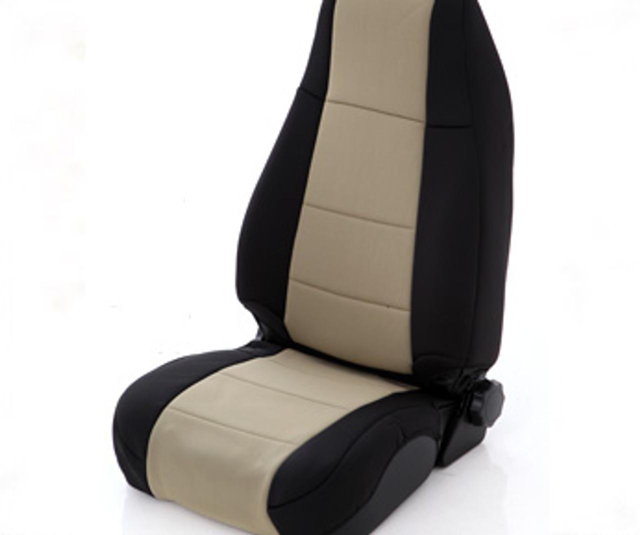 Smittybilt Neoprene Seat Cover in Black/Tan