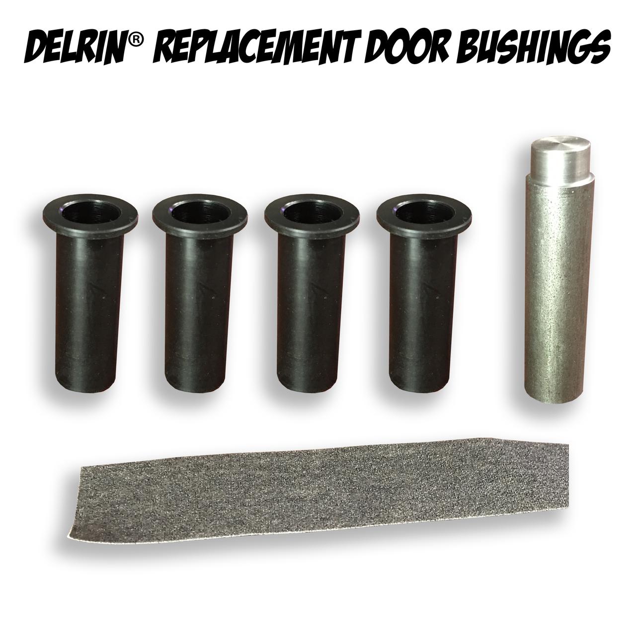 Delrinå¨ Replacement Door Hinge Bushings for Jeep Wrangler JK 2 Door 2007-2016