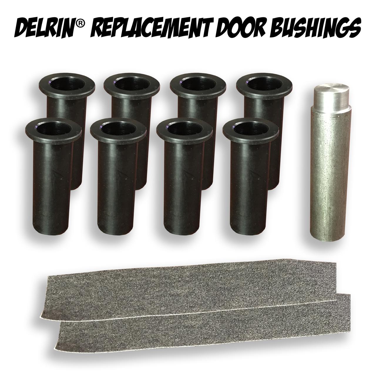 Delrin Replacement Door Bushing Kit for Jeep Wrangler JK 4 Door