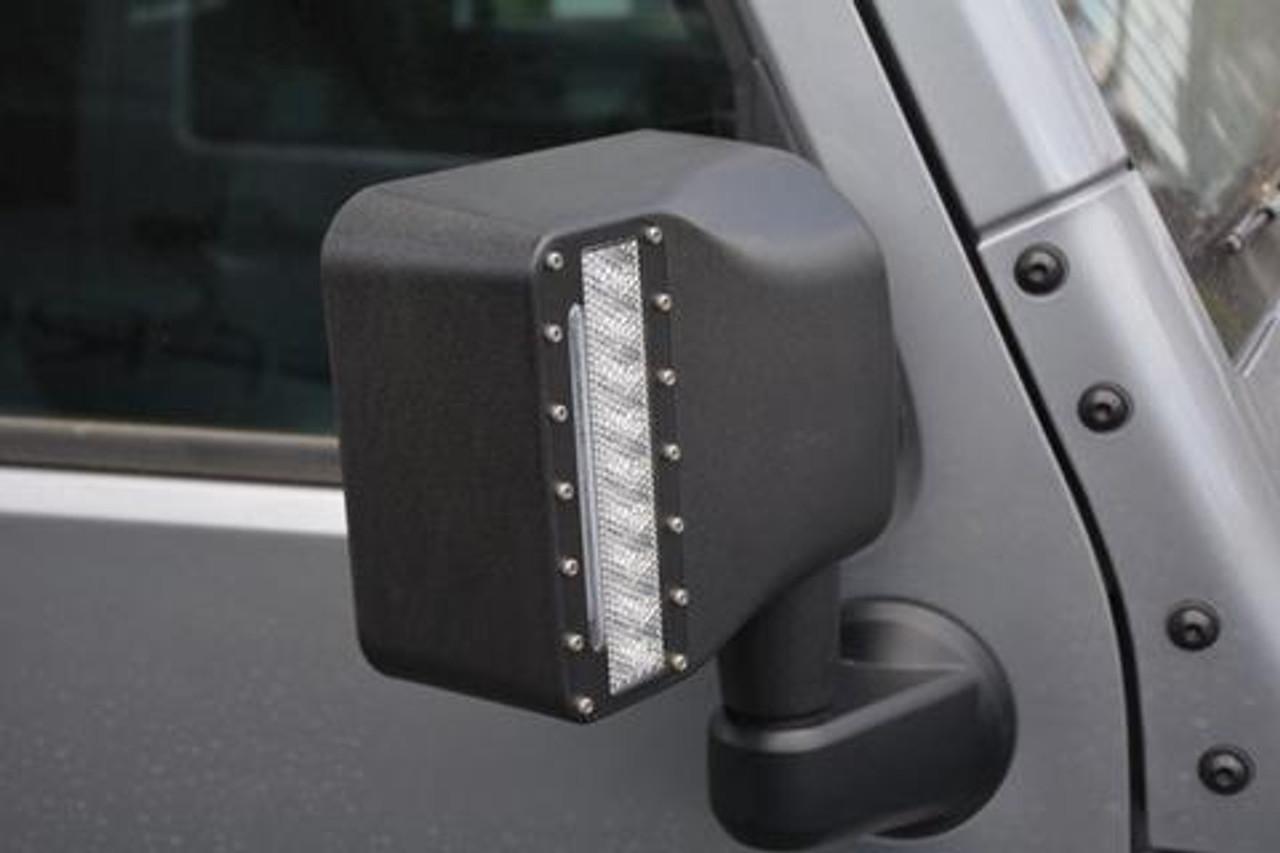 DV8 Offroad LEDMHPJK LED Mirror Housing for Jeep Wrangler JK 2007-2016