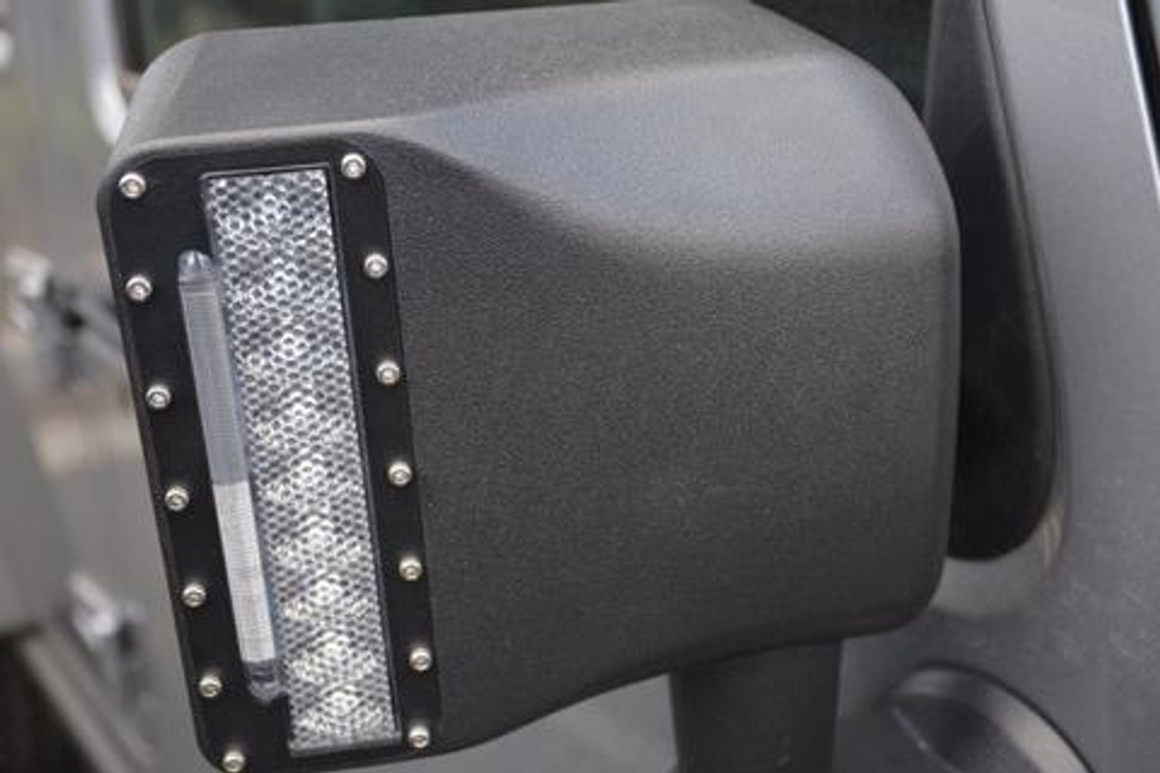 Close Up of DV8 Offroad LED Mirror Housing