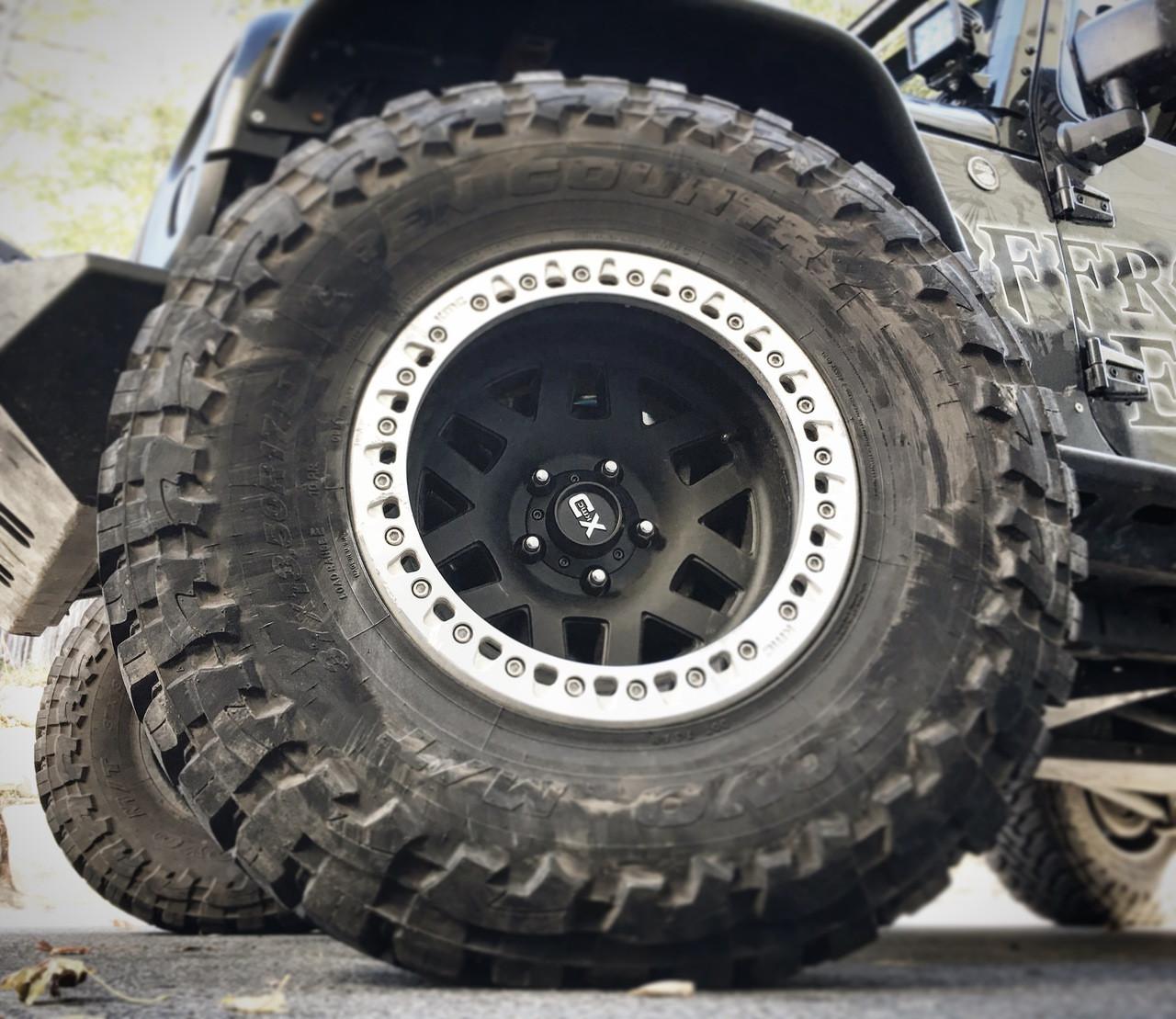 KMC Wheels XD229 Machete Beadlock Satin Black with Machined Ring- 17x9 / 5x127.00