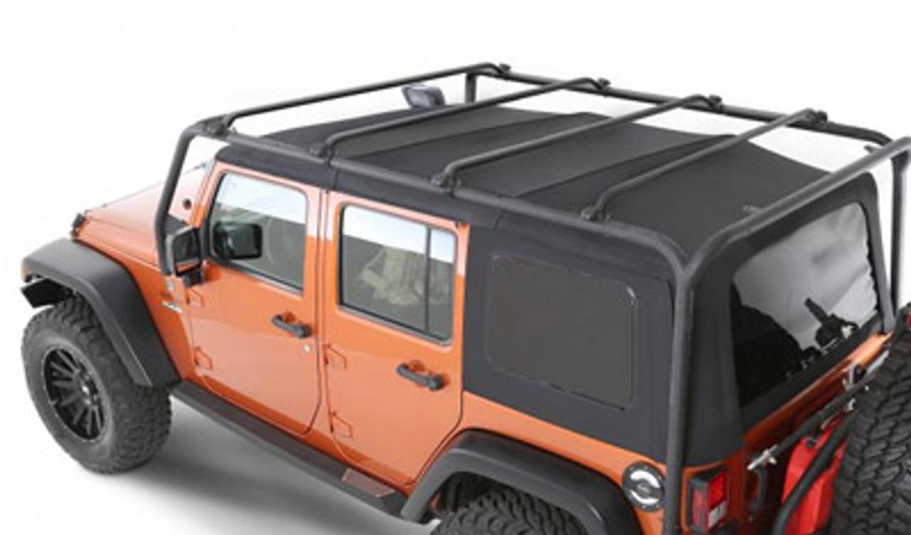 Smittybilt 76717 Src Roof Rack In Textured Black For Jeep Jk 4 Door