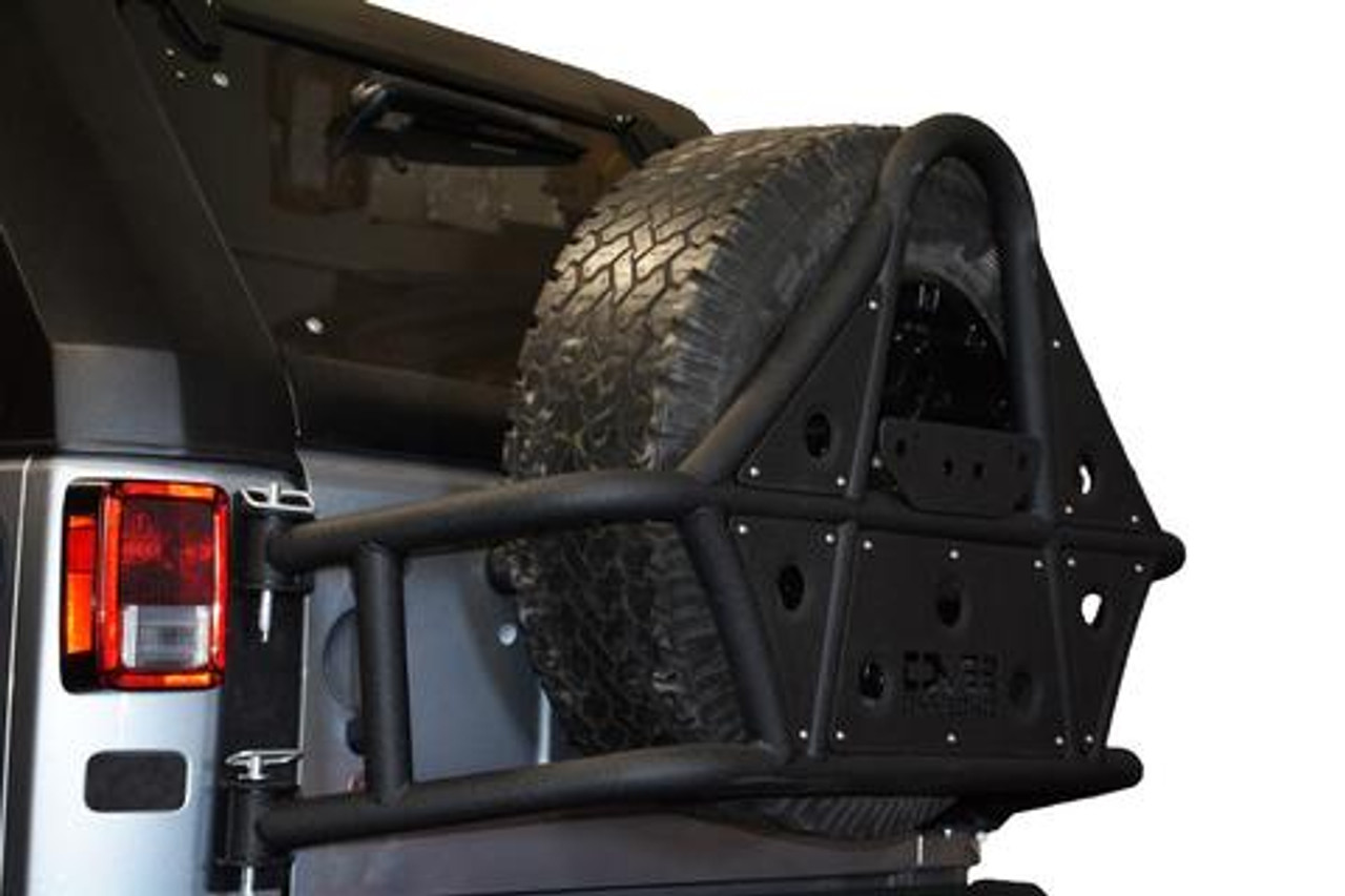 DV8 Offroad TCSTTB-01 Body Mounted Tire Carrier for Jeep Wrangler JK 2007-2018
