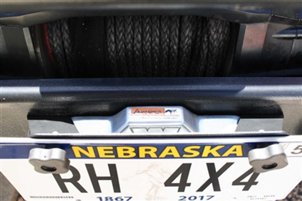 Rock Hard 4x4 RH-4004 Universal Fairlead License Plate Mount with Cable Lanyard