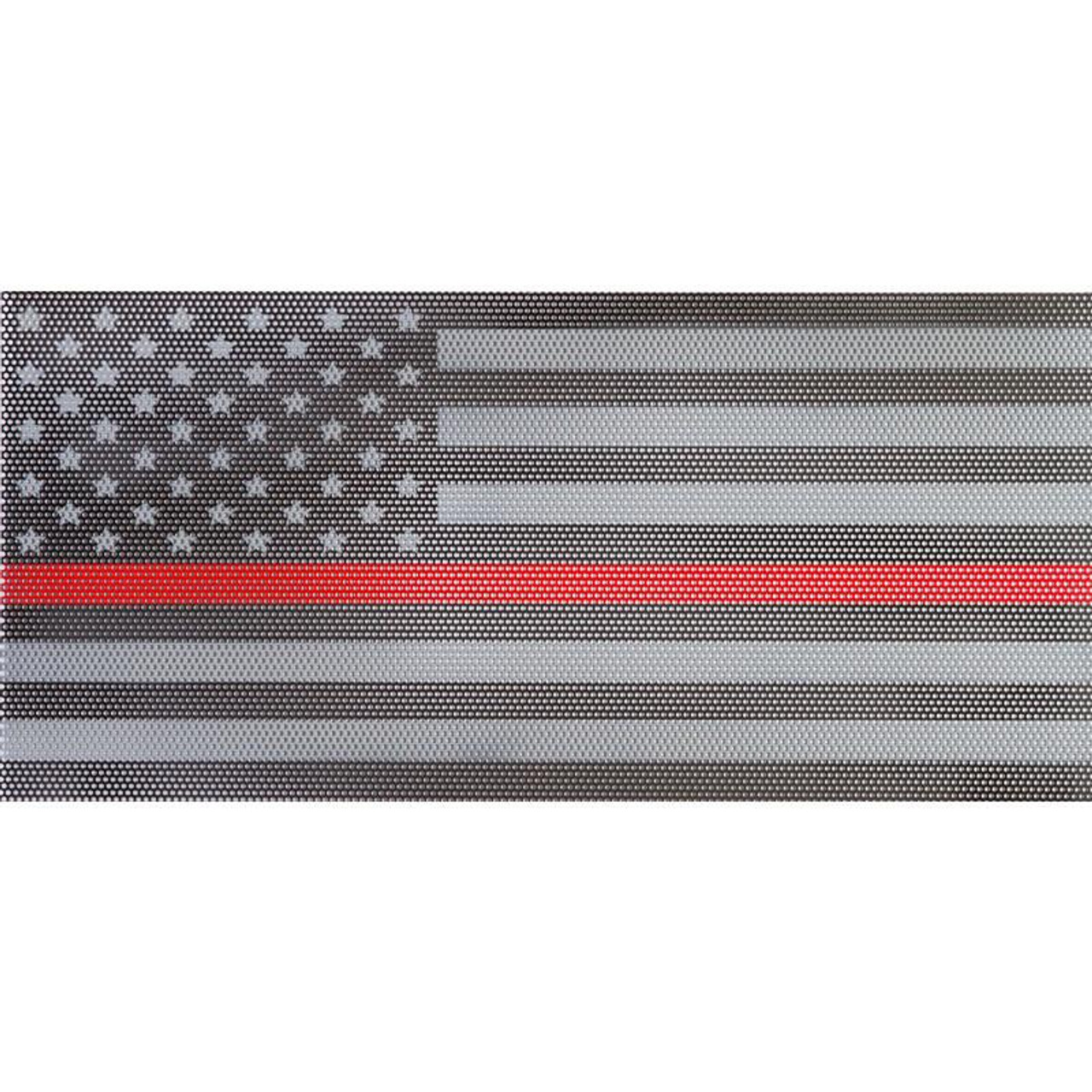 58da65cf Under The Sun Inserts UTS-TRL Thin Red Line American Flag Grill Insert for  Jeep