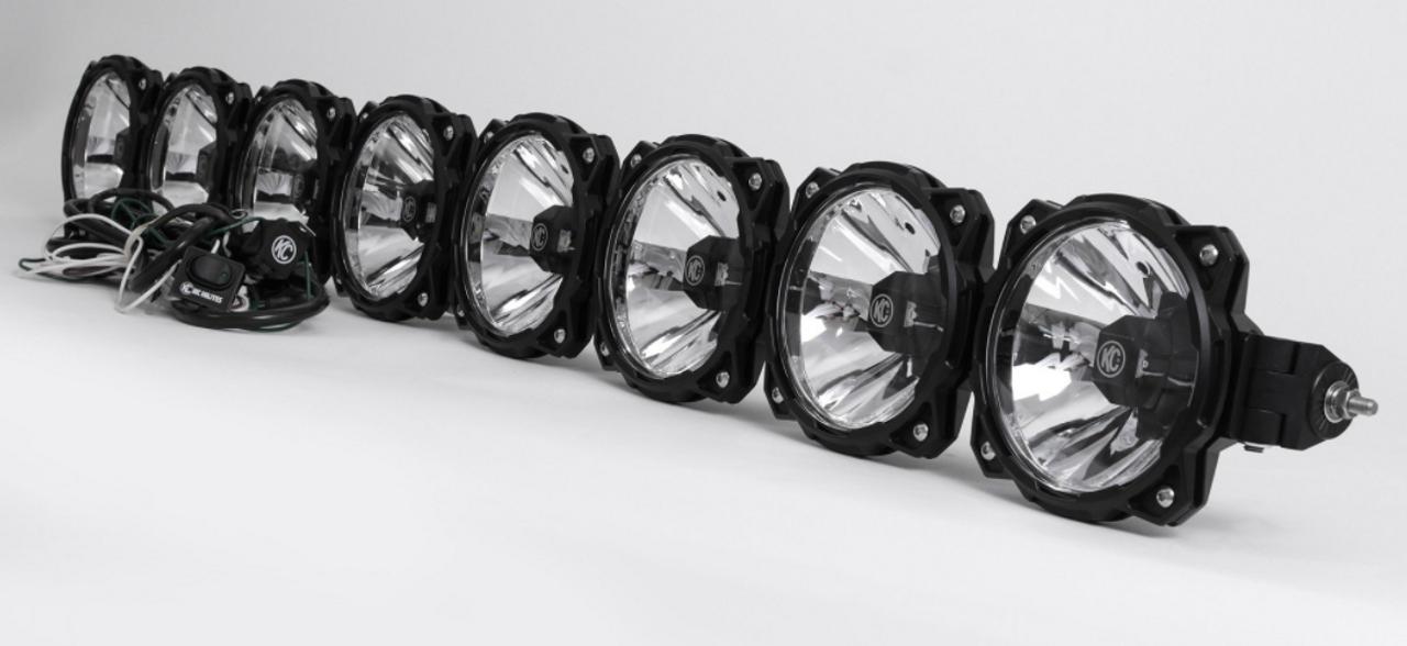 KC Hilites 91313 Pro6 8-Light Combo Beam LED Light Bar for Jeep Wrangler JK 2007-2018