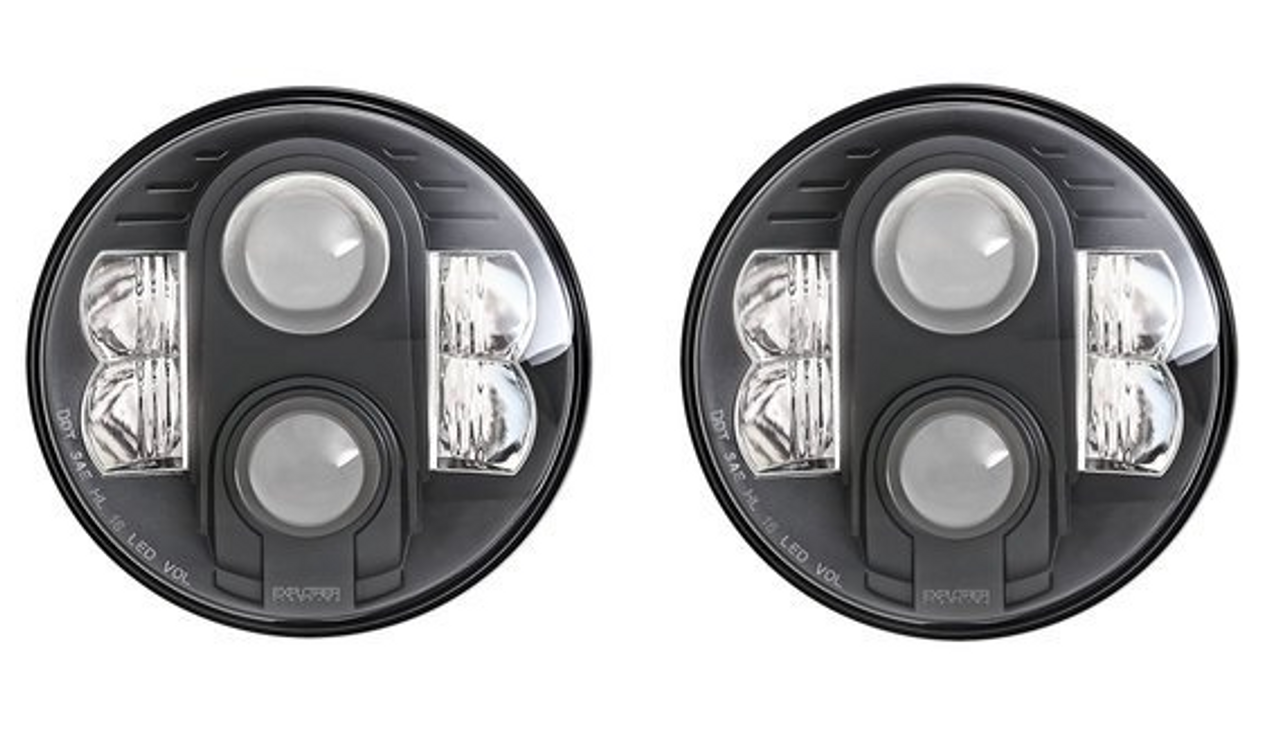 "Pro Comp 76402P Explorer 7"" LED Headlamp Pair for Jeep Wrangler JK 2007-2018"