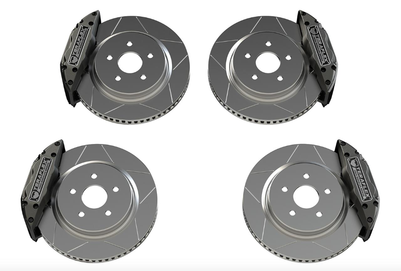 TeraFlex 4403450 Delta Brake Kit Front & Rear 5x5 Bolt Pattern for Jeep Wrangler JK & JL