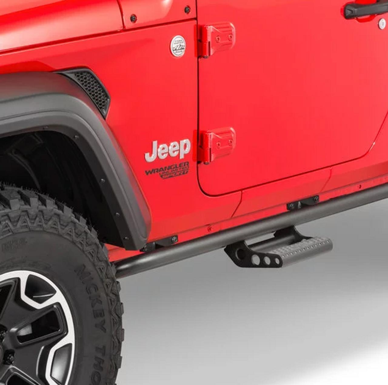 N-Fab JK182RKRS2 Rock Rails with Step for Jeep Wrangler JL 2 Door 2018+