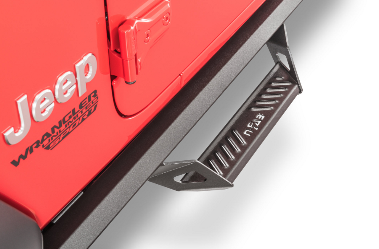 N-FAB PRJ1863-TX Predator Pro Nerf Steps for Jeep Wrangler JL 4 Door 2018+