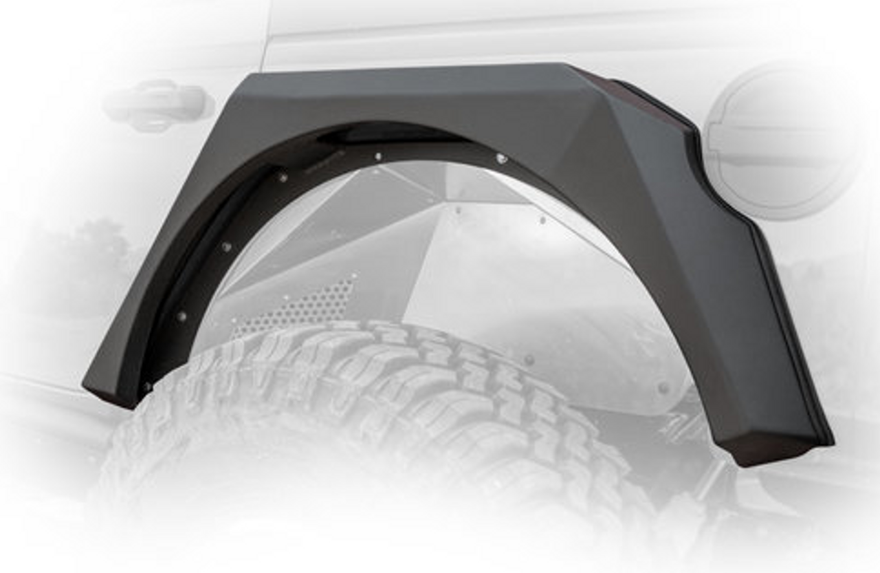 DV8 Offroad FDJL-01 Armor Style Fenders with Vents & Turn Signals for Jeep Wrangler JL 2018+
