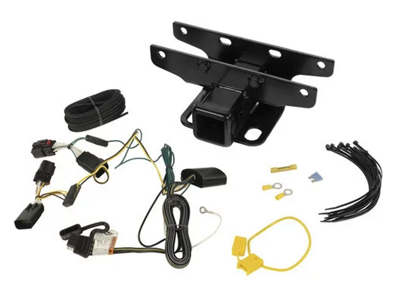 "Rugged Ridge 11580.11 2"" Receiver with Optional Wiring Kit for Jeep Wrangler JL 2018+"