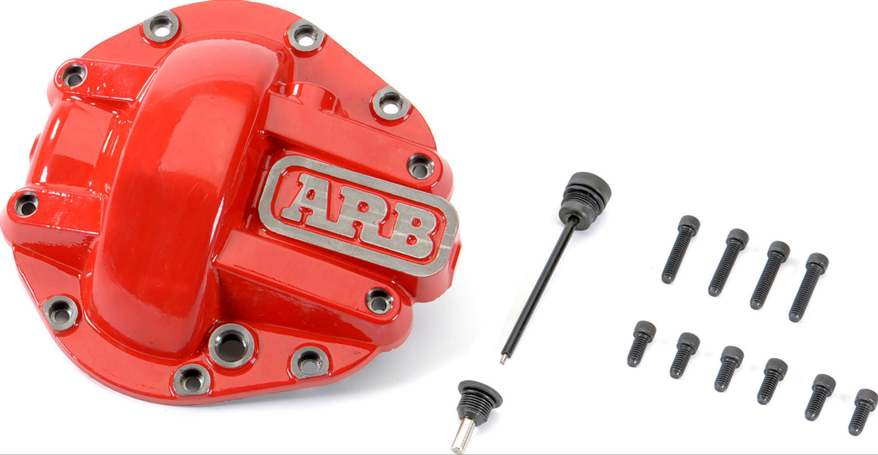 ARB 0750012 Competition Rear M220 Diff Cover in Red for Jeep Wrangler JL & Gladiator JT Rubicon