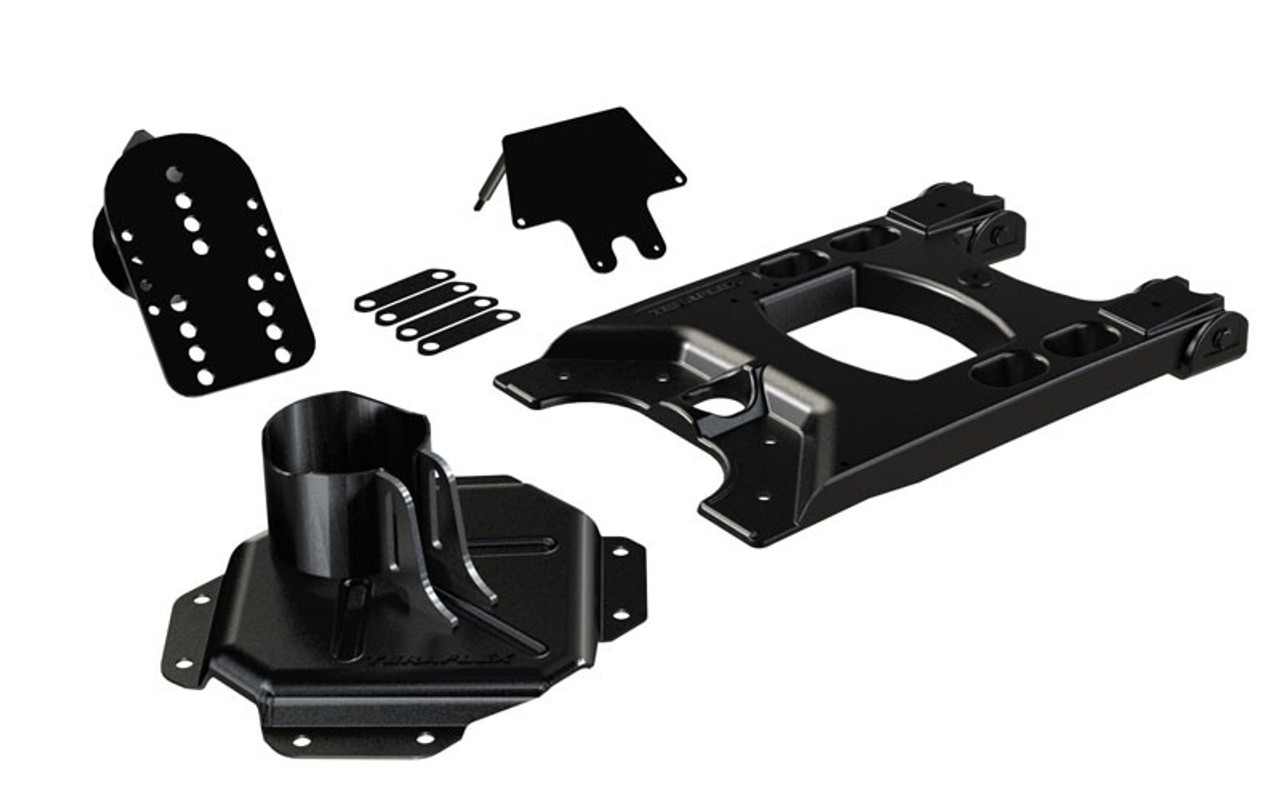 TeraFlex Hinged Carrier and Adjustable Spare Tire Mounting Kit Jeep Wrangler JK