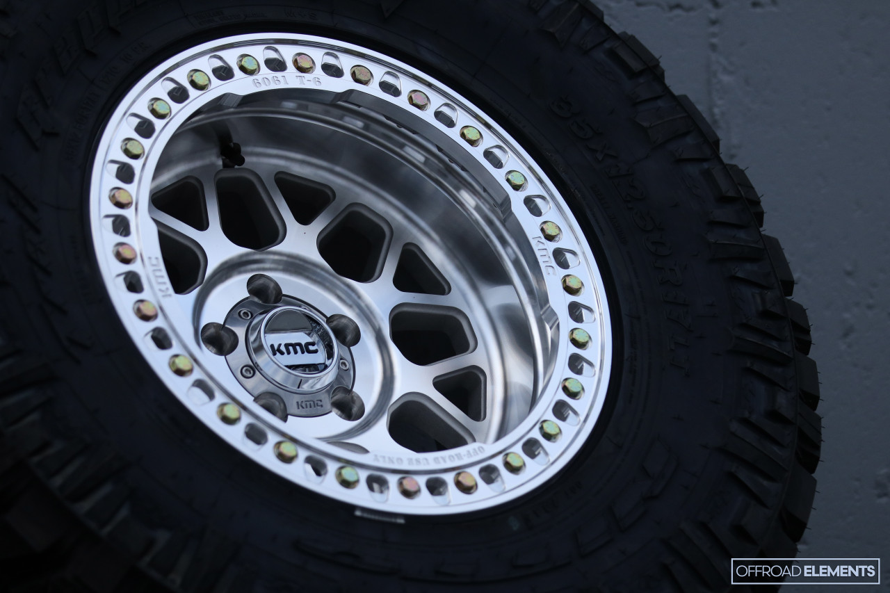 KMC Wheels KMC235 Grenade Crawl- Machined 17x9