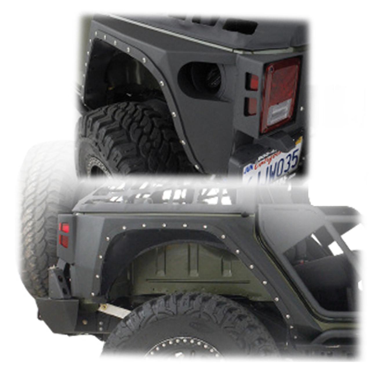Smittybilt XRC Rear Corner Armor Fender Kit for Wrangler JK