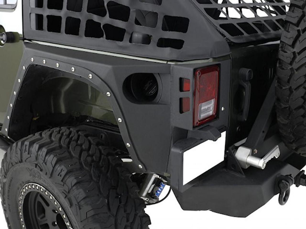 Smittybilt 76881 XRC Rear Corner Armor Fender Kit for Jeep Wrangler JK 2007-2016