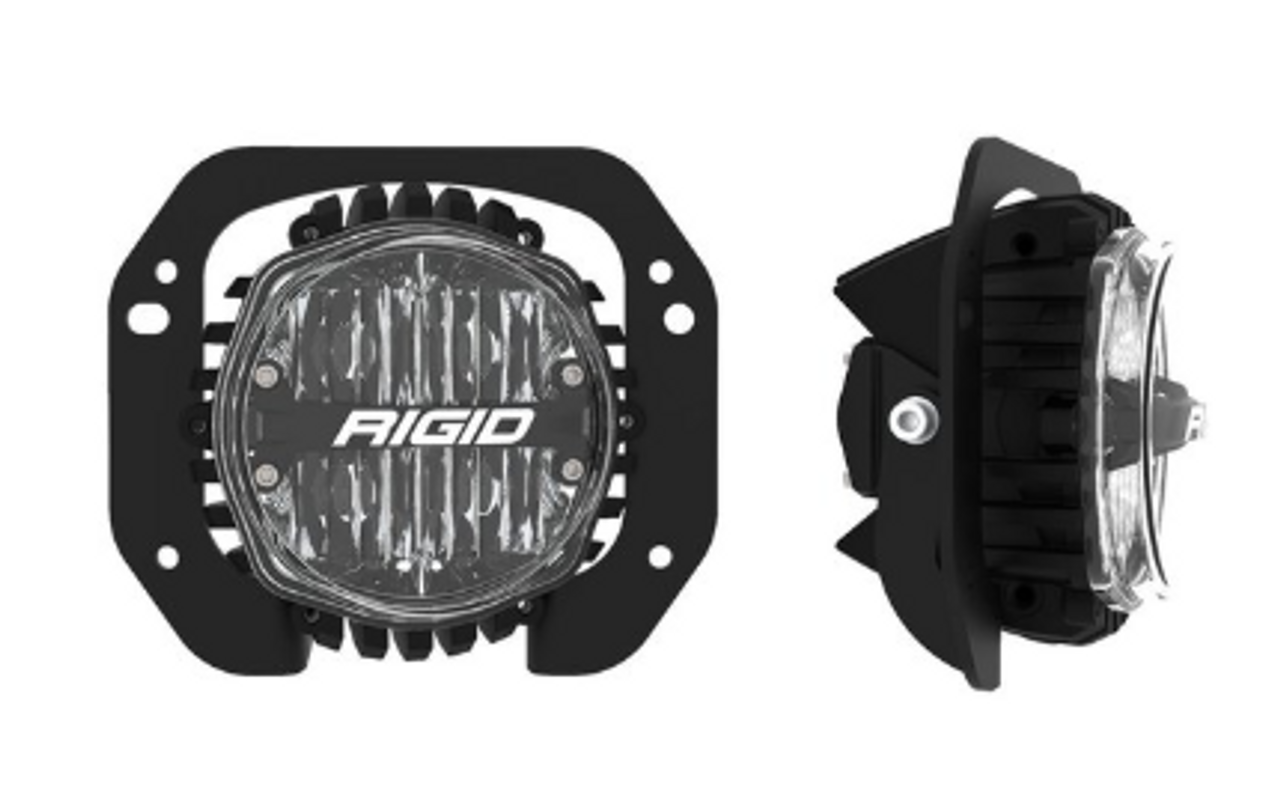 Rigid Industries 37108 SAE White Fog Lights for Jeep Wrangler JL & Gladiator JT Sport & Sport S 2018+