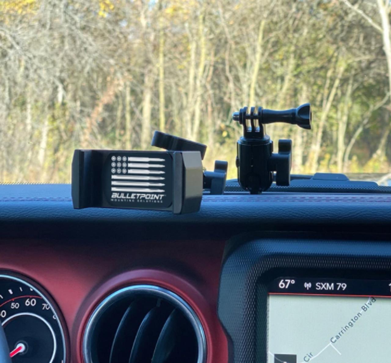 Bulletpoint Mounting Solutions MSUDDPM-JLJT Metal Series Dual Dash Phone Mount for Jeep Wrangler JL & Gladiator JT 2018+