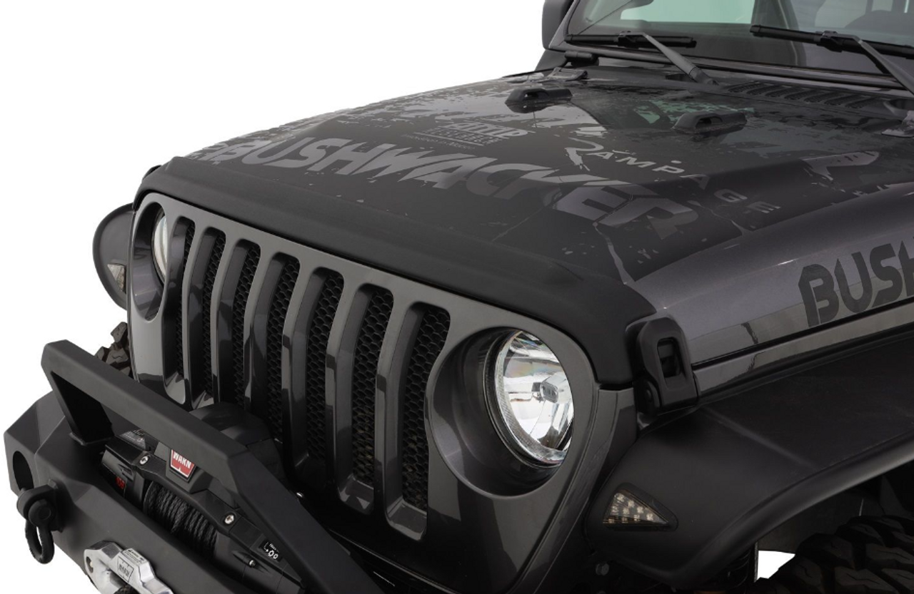 Bushwacker 14093 Trail Armor Hood Stone Guard in Black for Jeep Wrangler JL & Gladiator JT 2018+