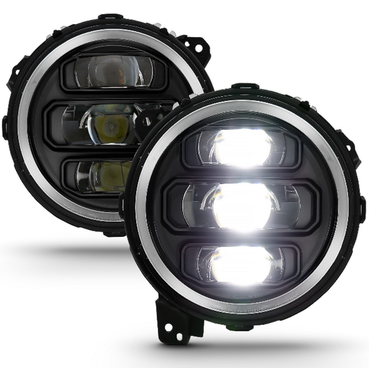 Anzo USA 111466 Full LED Projector Headlights in Black for Jeep Wrangler JL & Gladiator JT 2018+