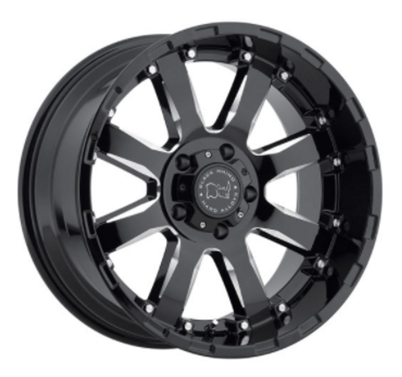 Black Rhino 1790SRA-25127B78 Sierra Wheel | 17x9 | 5x5 | Gloss Black with Milled Spokes