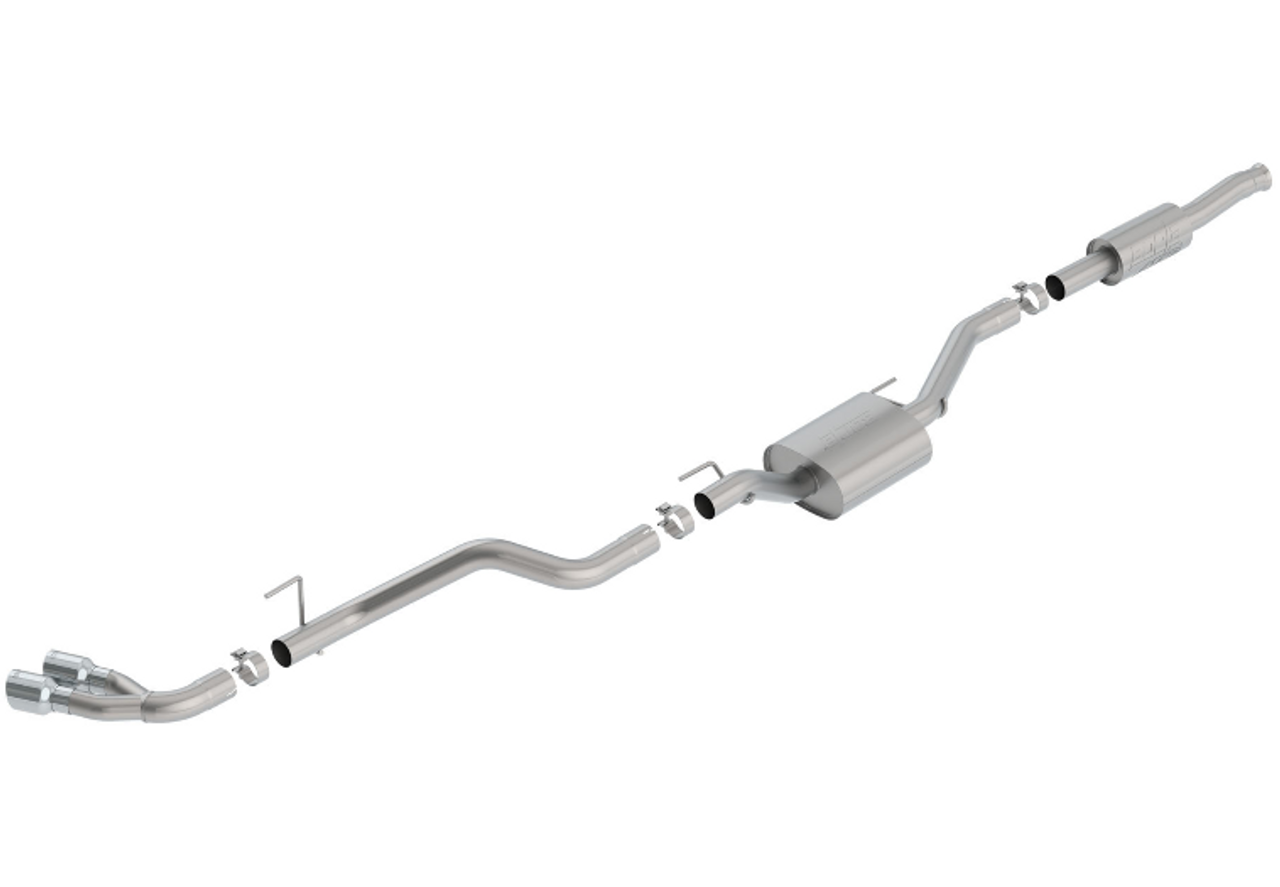 Borla 140813 ATAK T-304 Stainless Steel Catback Exhaust   Dual Side Exit   Polished for Jeep Gladiator JT 2020+