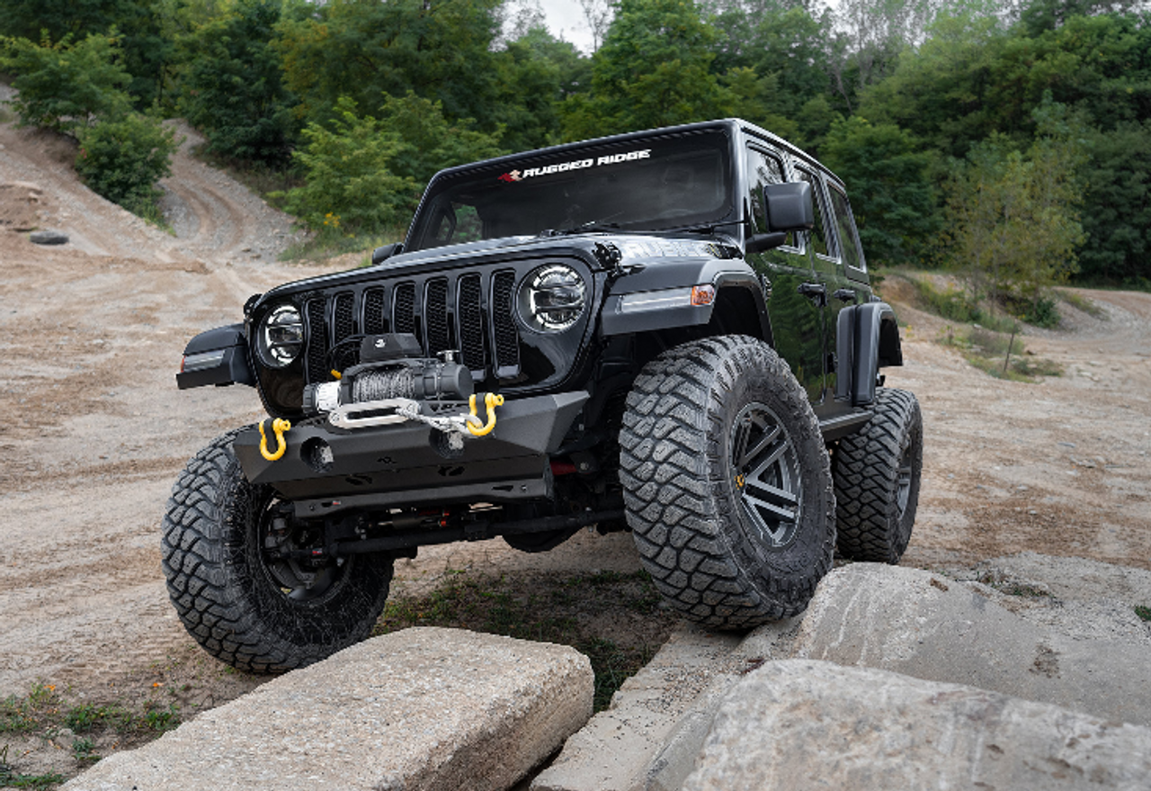 Rugged Ridge 11541.21 XOR Front Stubby Bumper for Jeep Wrangler JL & Gladiator JT 2018+