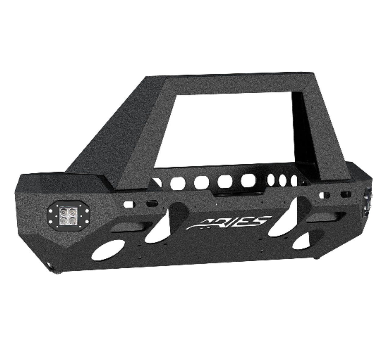 Aries 2082085 TrailChaser Front Bumper with Grille Guard and LED Corners for Jeep Wrangler JL & Gladiator JT 2018+