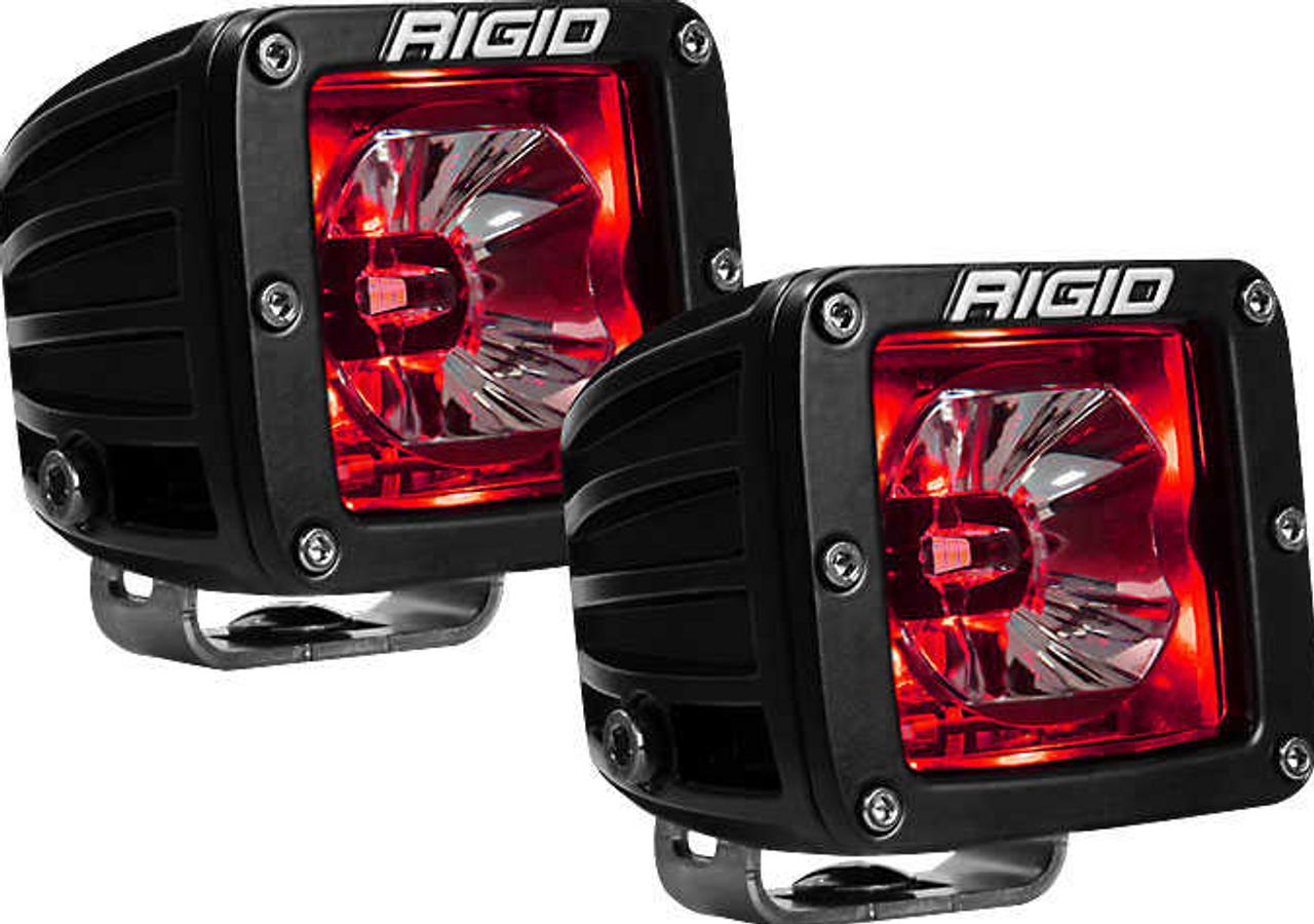 Rigid 20202 Radiance LED Pod Light Pair in Red