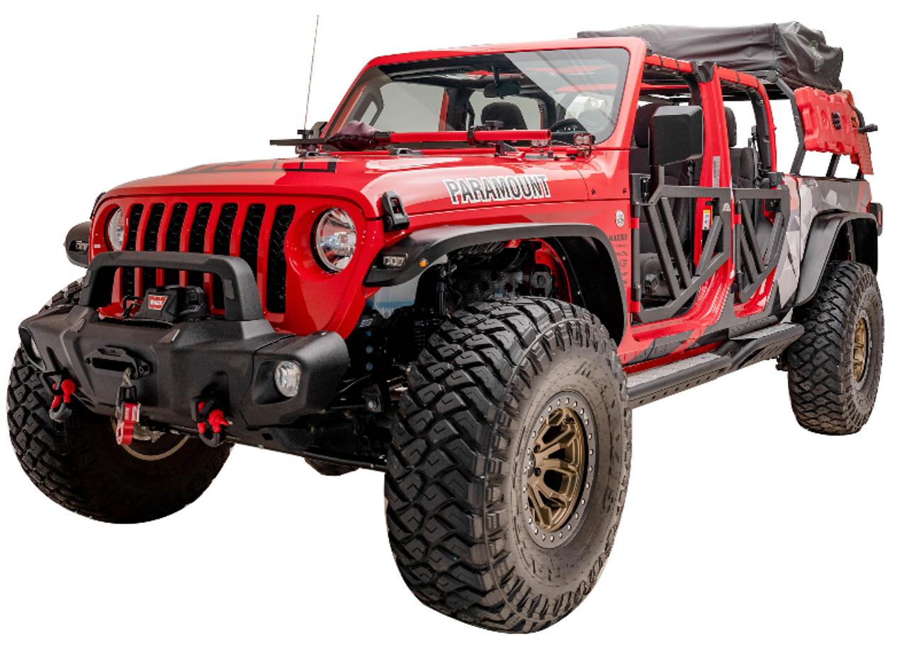 Paramount Automotive 81-20301 Guardian Mid Width Front Bumper for Jeep Wrangler JK, JL & Gladiator JT 2007+