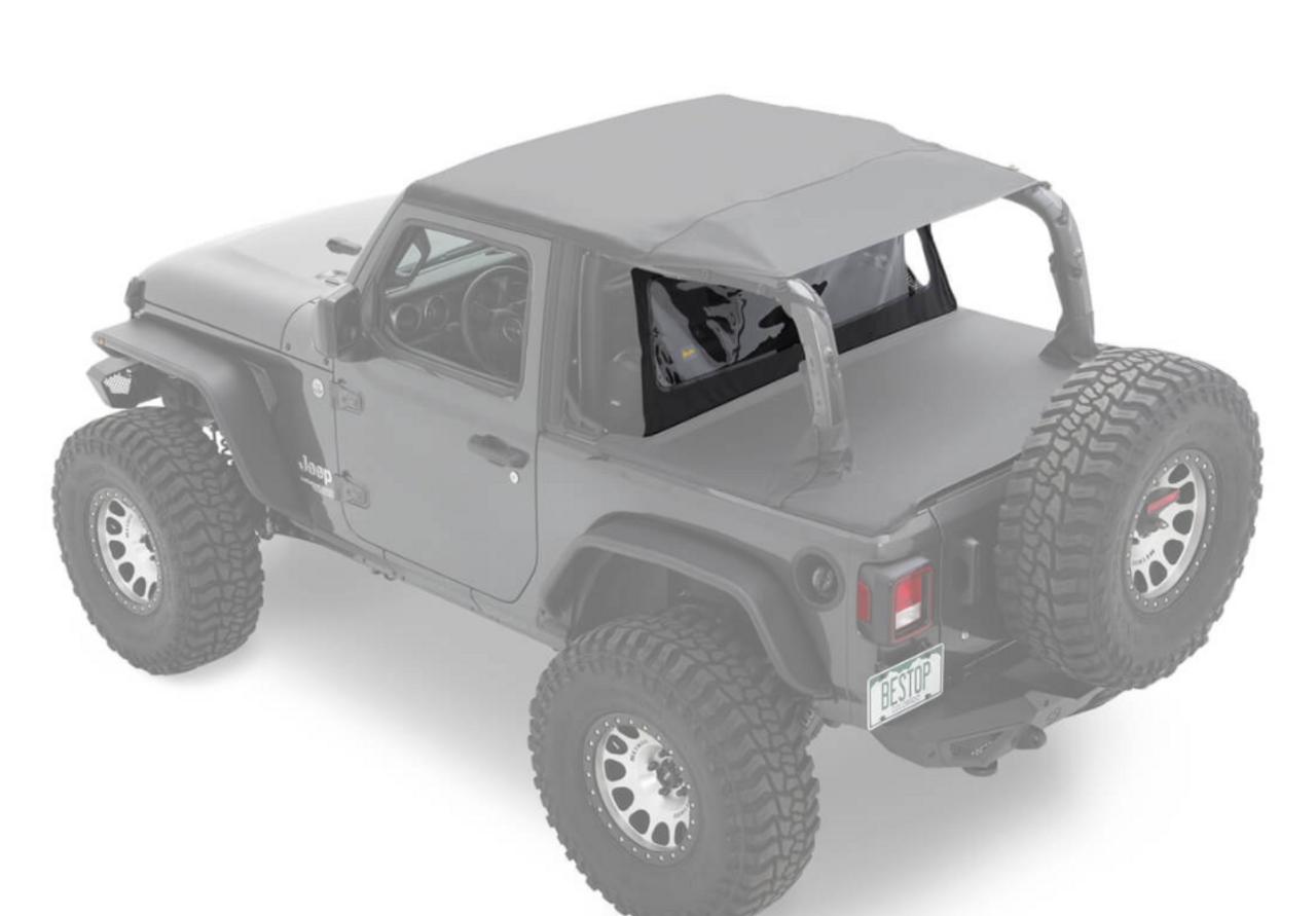 Bestop 80050-35 Standard Windjammer for Jeep Wrangler JL 2 Door 2018+