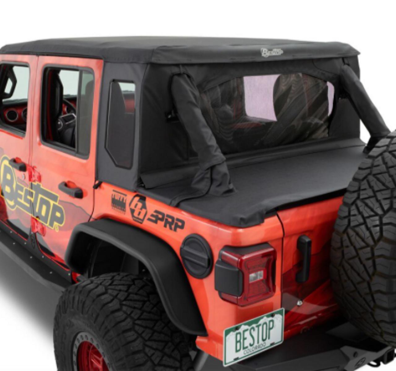 Bestop 80100-35 TrekTop Halftop Accessory Kit for Jeep Wrangler JL 4 Door 2018+