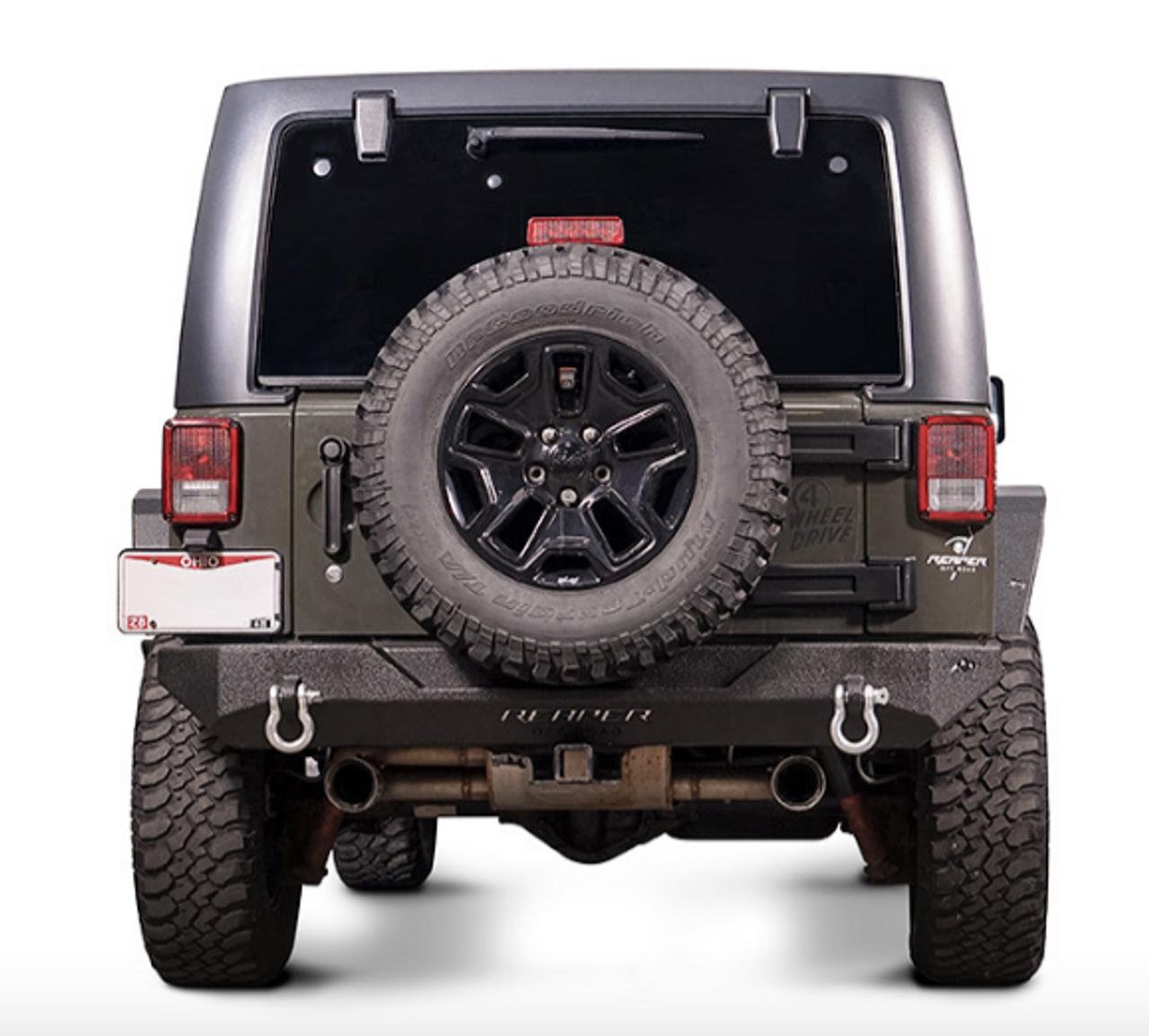 Reaper Off-Road JKRBX1A-B Immortal R4 Rear Bumper for Jeep Wrangler JK 2007-2018