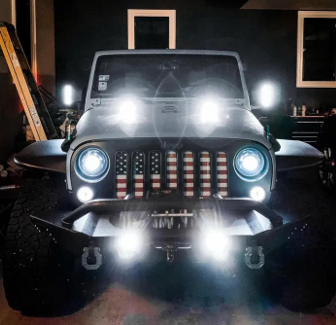 DCS Lighting V2 Hoodlight Pair for Jeep Wrangler TJ & JK 1997-2018