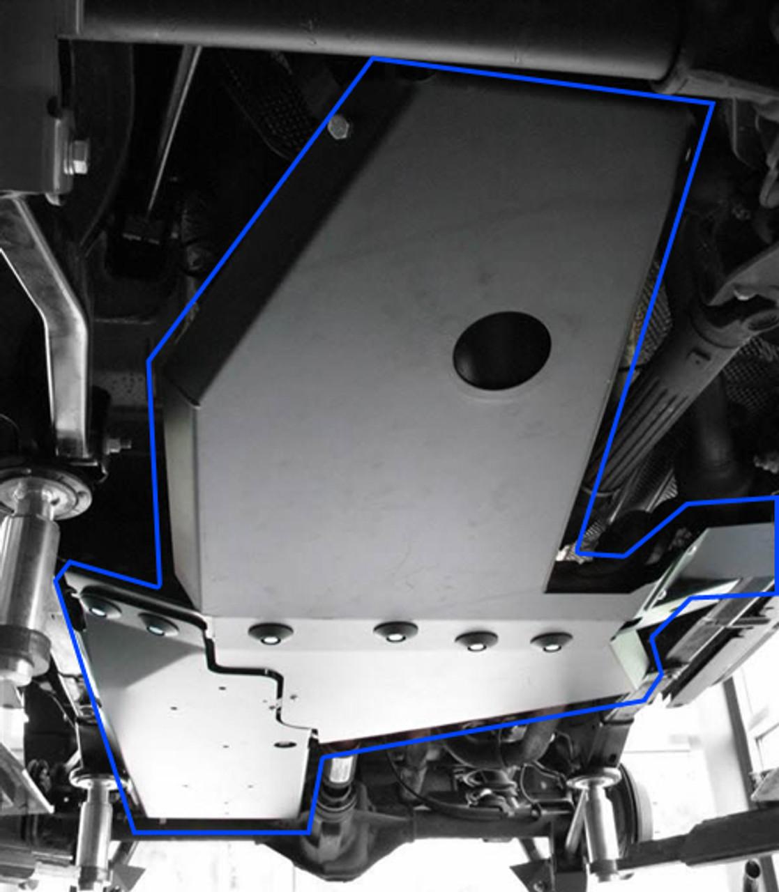 Rock Hard 4x4 Gas Tank Skid with Interlocking Oil Pan/Transmission Skids for JK 4 Door