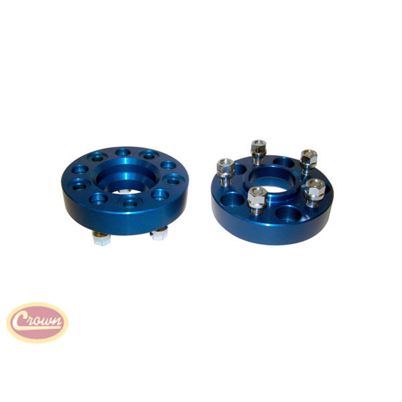 """Crown Automotive Wheel Spacers 5 on 5.5 Bolt Pattern 1.5"""" Offset Pair 